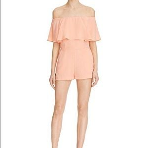 Peach Off-the-Shoulder Romper